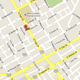 Map to West Chester Immigration Attorney Office